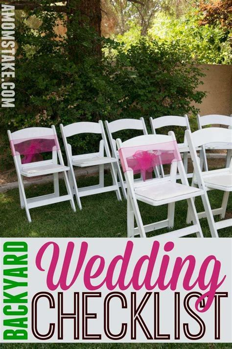 DIY Backyard Wedding Checklist   A Mom's Take