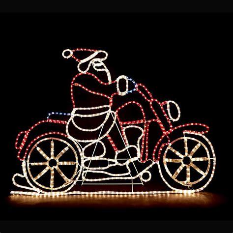 rope light santa santa motorbike rope lights buy at qd stores