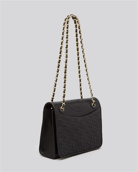 Burch Flemming Small Black 1 burch shoulder bag fleming quilted flap convertible in lyst