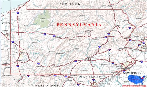map of pennsylvania pennsylvania maps