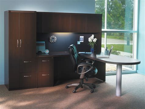 l shaped computer desk with storage mayline at22 aberdeen l shaped desk and hutch with