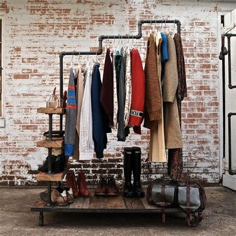 Industrial Clothing Rack by Industrial Clothing Rack Shop Display Decor Ideas
