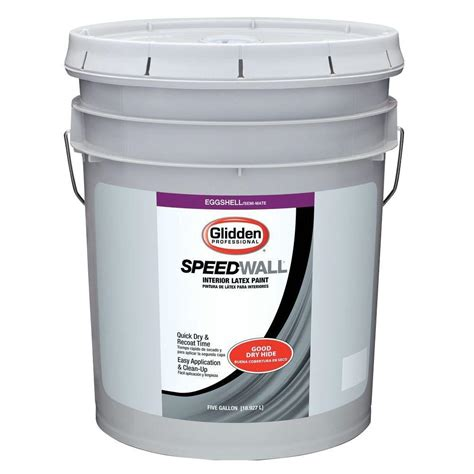 home depot 5 gallon interior paint glidden professional 5 gal speed wall eggshell interior