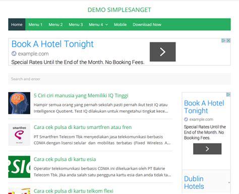adsense untuk blogspot simplesanget responsive high ctr blogger template