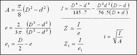 section modulus of pipe formula formulas 2 section properties area section modulus