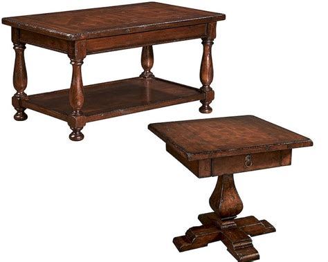 traditional coffee table set by hekman he 81228 set