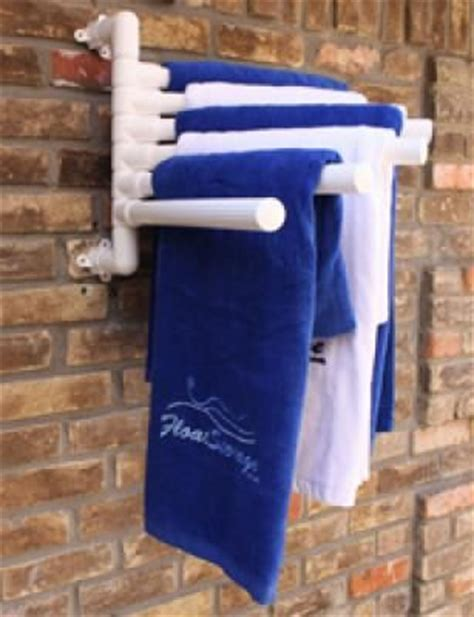 Hanging Pool Float Rack by Pool Float Organizer Hanging Towel Rack By Float Storage Pvc Projects Products