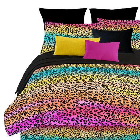 rainbow comforter sets queen rainbow leopard print pattern queen sheet bedding