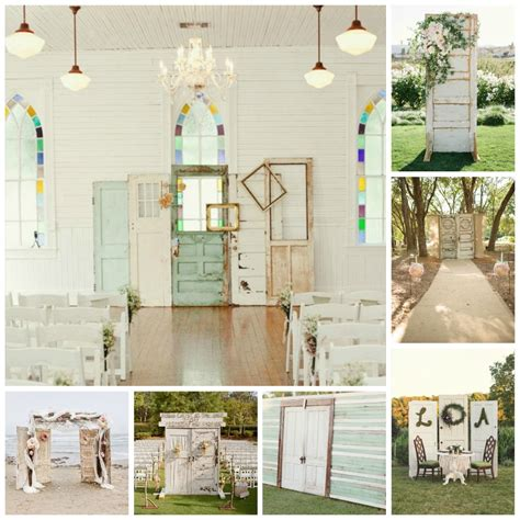 Wedding Ceremony Doors by Diy Wedding Backdrops Dinner 4 Two