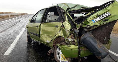 kuluda trafik kazasi  yarali yeni meram
