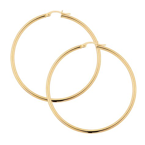 Hoop Earring hoop earrings in 10ct yellow gold