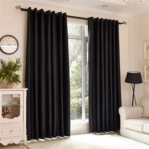 black window curtains fashion solid black curtains windows home bedroom blackout