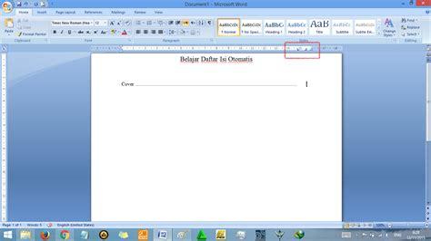 membuat titik daftar isi dengan tab cara membuat daftar isi otomatis di word rapi tutorial