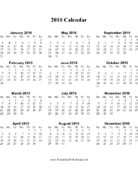 printable 2015 calendar on one page vertical week starts 2010 calendar vertical descending holidays in red calendar