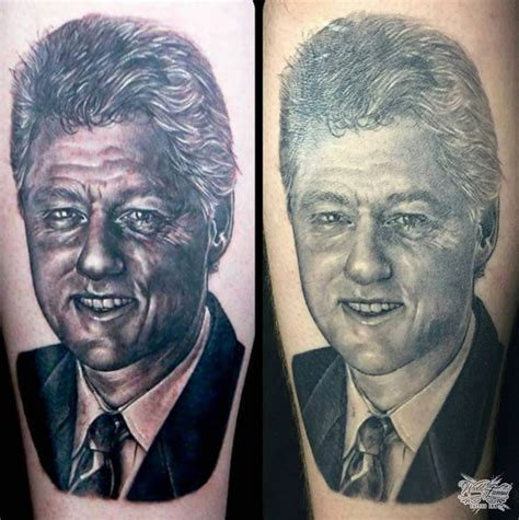 awesome bill clinton tattoo by sarah miller