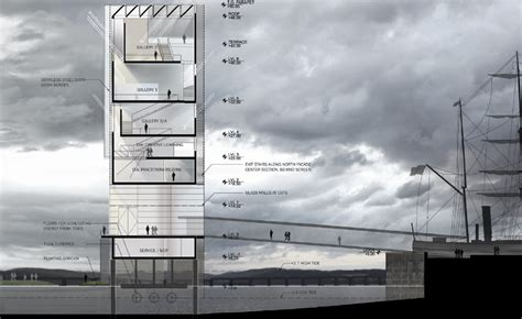 architecture plans steven holl v a at dundee shortlisted design