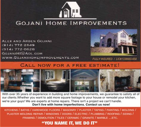 gojani home improvements albanian yellow pages