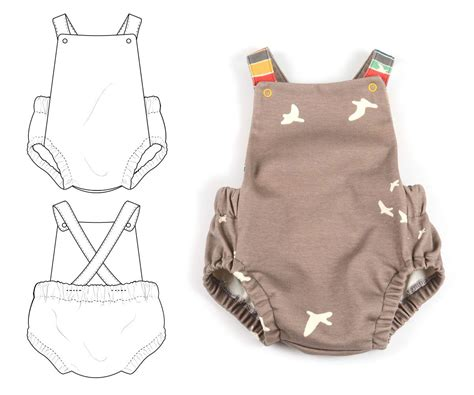 clothes pattern for baby b t summer romper has a good tutorial baby girl