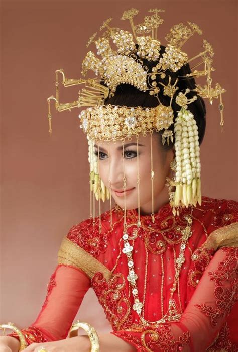 indonesian brides betawi traditional wedding headdress one night in