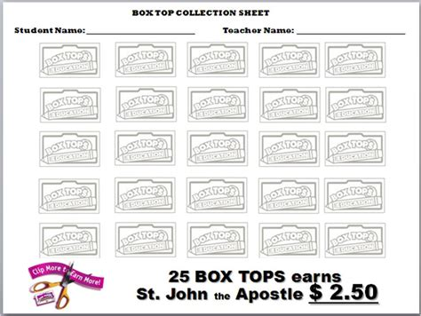 top sheets parent tools box tops collection sheets