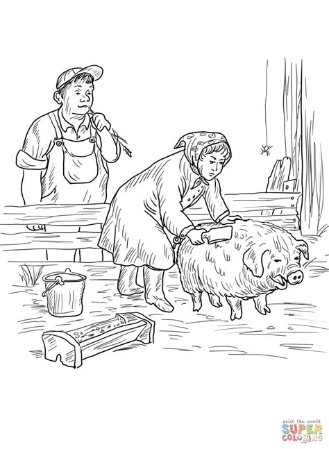coloring pages charlotte s web free mrs zuckerman gives wilbur a buttermilk bath coloring