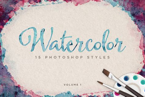 watercolor tutorial photoshop tumblr watercolor photoshop styles volume 1 design panoply