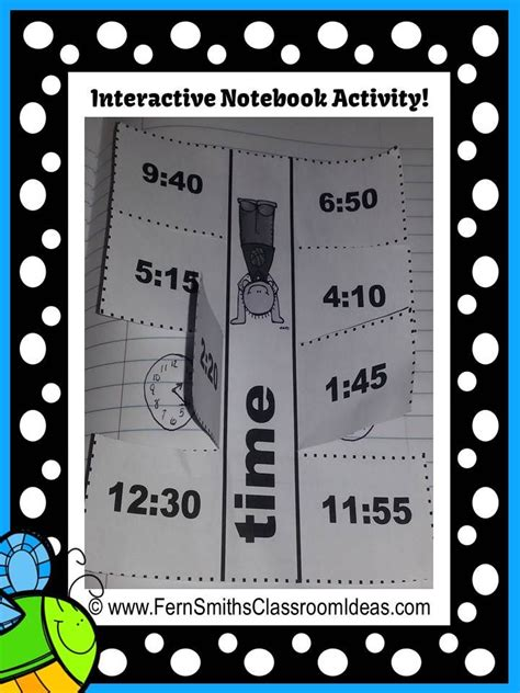 printable interactive clock spring telling time printables and interactive notebook