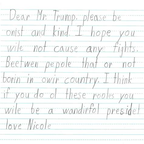 letters to grade students wrote these letters to donald
