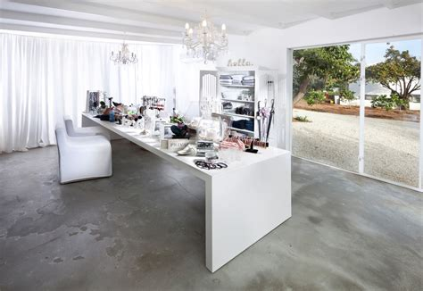 concrete floor paint Home Office Eclectic with chandeliers