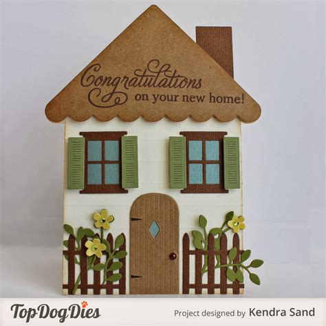 card house luv 2 scrap n make cards tdd new home shaped card