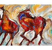 Fine Art Print Wild Mustang Horses Made From Image