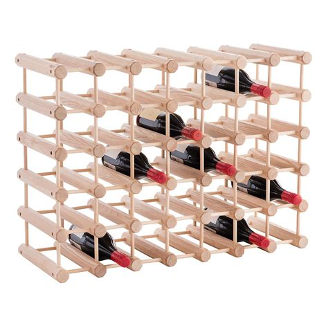 Wine Bottle Rack by J K Hardwood 40 Bottle Wine Rack The Container Store
