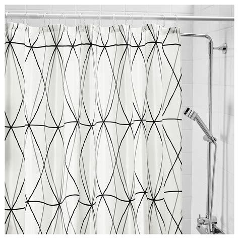 black grey and white shower curtain f 214 ljaren shower curtain white black grey 180x180 cm ikea