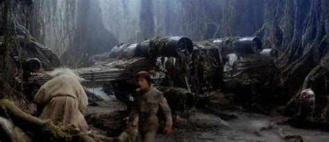 empire strikes back wars v yoda lifts x wing for luke