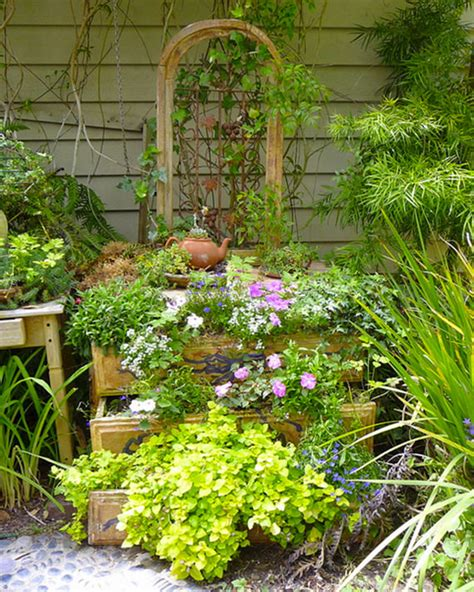 Recycled Garden by Diy Recycled Garden Dresser 1001 Gardens