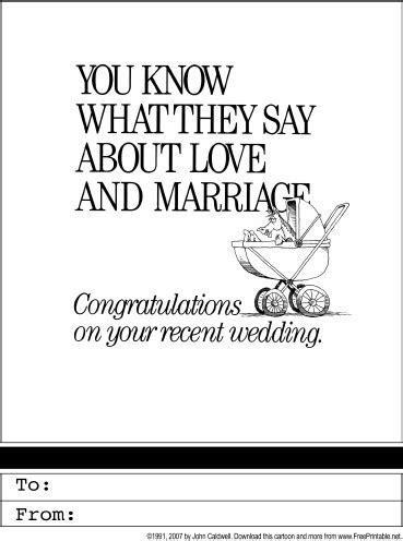 Wedding Congratulations Printable Greeting Card Congratulations Wedding Card Template