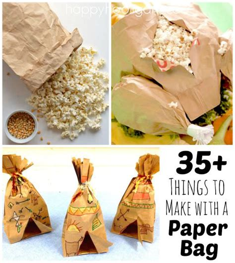 Brown Paper Bag Crafts - 35 cool things to make with a paper bag happy