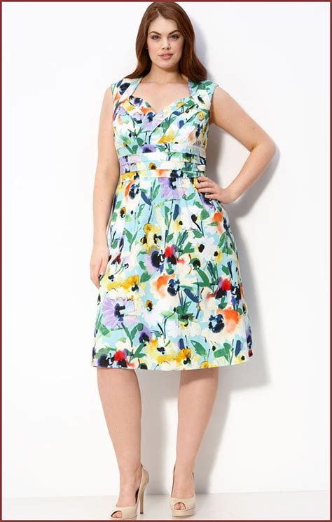 floral dress for plus size