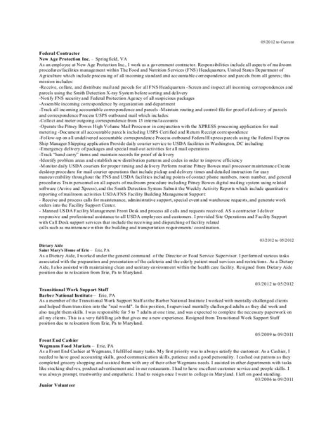 sequential format resume exle executive work history exles using sequential formatting