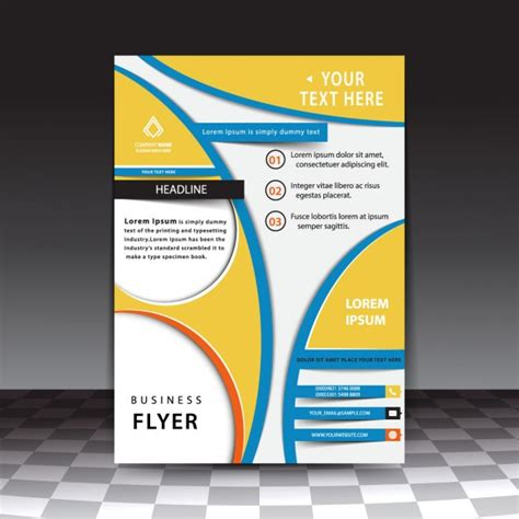 abstract business flyer template vector free download
