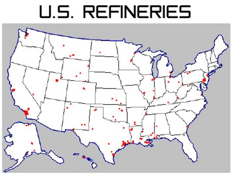 texas refineries map u s and refining