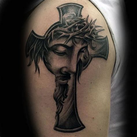 cross with jesus tattoos 60 jesus arm designs for religious ink ideas