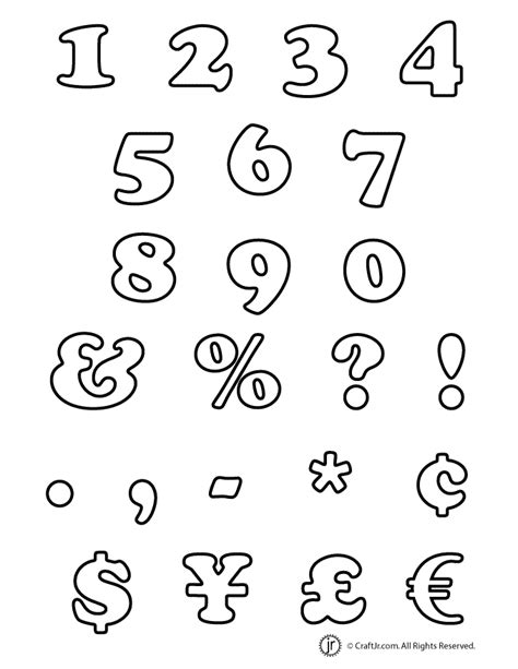 printable numbers letters bubble numbers and characters woo jr kids activities