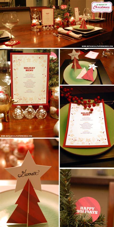 printable christmas table decorations free printable holiday dinner decor blog botanical