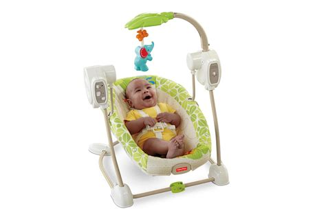 fisher price spacesaver swing fisher price infant s spacesaver swing seat rainforest