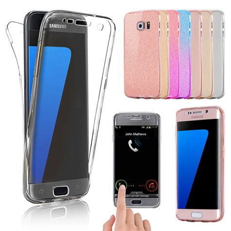 shockproof 360 176 silicone protective clear cover for samsung galaxy phones ebay