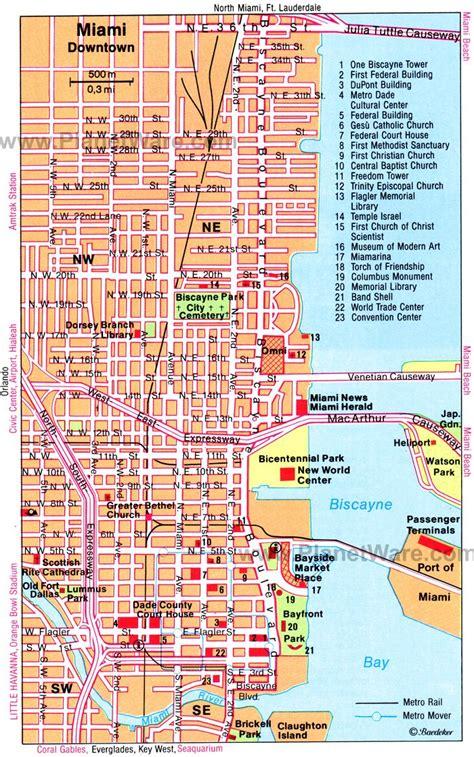 miami map usa miami usa cruise port of call