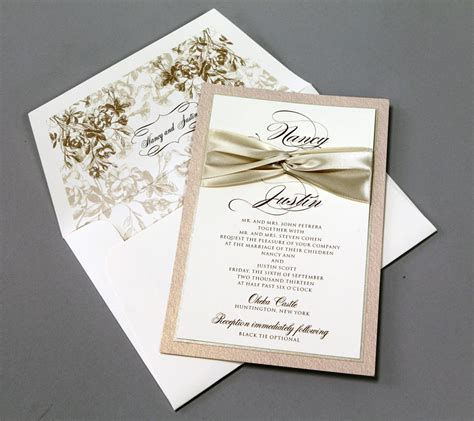 tying ribbon for wedding invitations ribbon for wedding invitation wedding invitations with