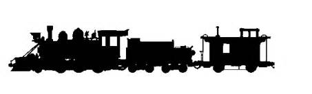 passenger train silhouette