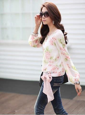 Blouse Import Murah A30717 Pink blouse wanita import lengan panjang cantik model terbaru